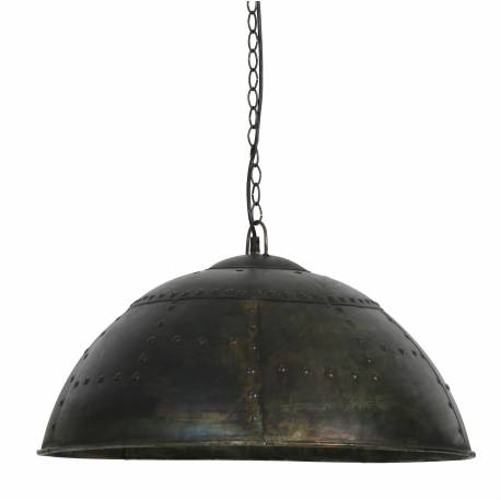Plafonnier Suspension Electrique Marcha Style Industriel Luminaire Lampe 1 Ampoule en Métal Verni 33x60x60cm