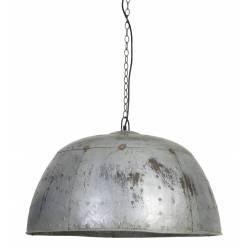Plafonnier Suspension Electrique Manouk Style Industriel Luminaire Lampe 1 Ampoule en Métal Verni 44x72x72cm