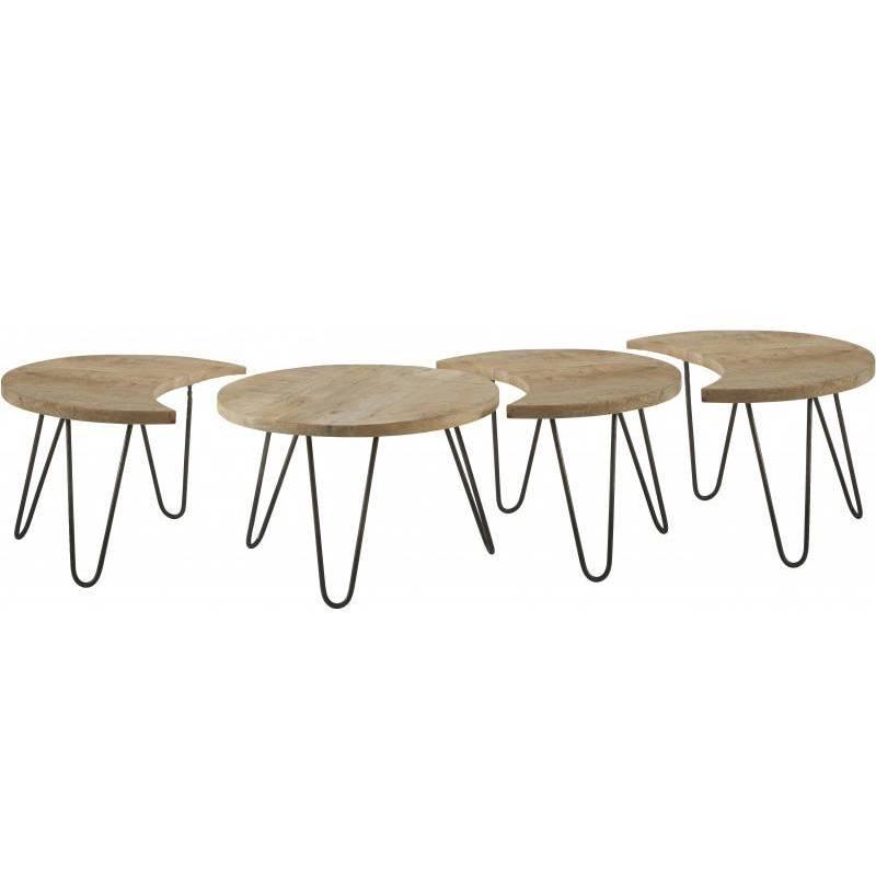 table basse modulable nest motifs marque hanjel consoles d 39 appoint bout de canap 4 pi ces en. Black Bedroom Furniture Sets. Home Design Ideas