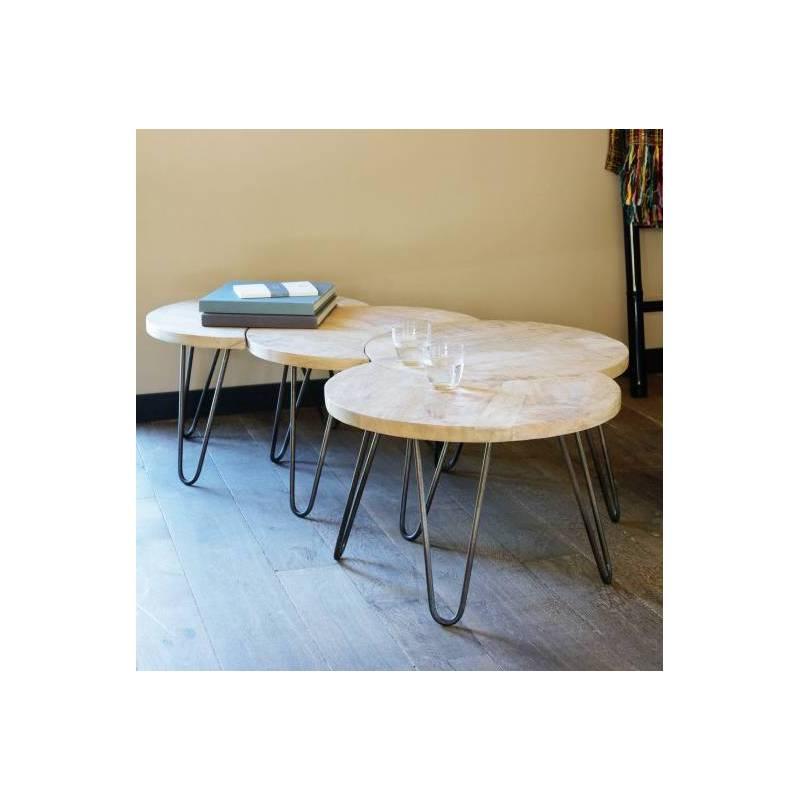 table basse modulable nest motifs marque hanjel consoles d. Black Bedroom Furniture Sets. Home Design Ideas