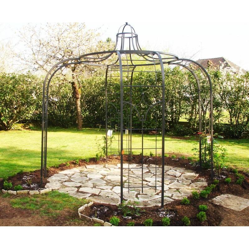 Gloriette princess medium tonnelle pergola de jardin abris - Tonnelle jardin fer forge ...