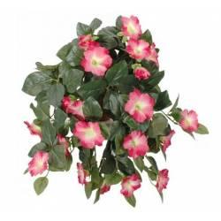 Fleurs Artificielles en Tissu dans son Pot en Terre Cuite Décoration Fleurie Liseron Rose 22x52x53cm