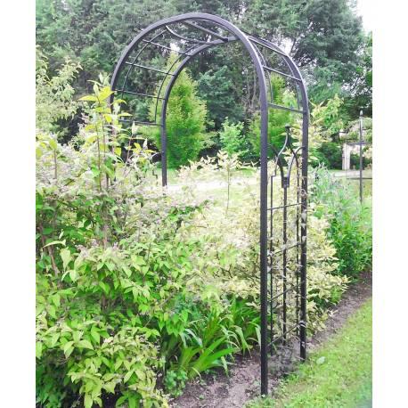 Arche Princess Arche à Fleurs Rosiers Tuteur Plantes de Jardin Passage en Fer Forgé Marron Martelé ou Noir 61x124x229cm