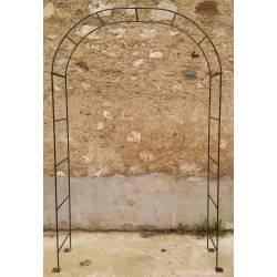 Arche Simple Arche à Fleurs Rosiers Tuteur Plantes de Jardin Passage en Fer Forgé Gris Anthracite 40x120x239cm