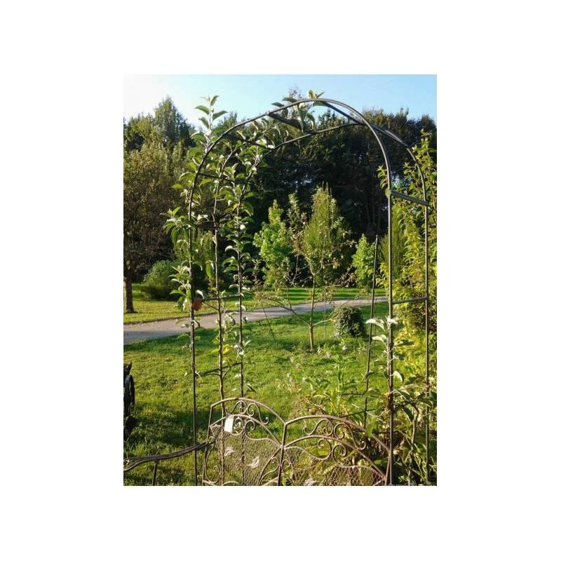Grande arche simple arche fleurs rosiers tuteur plantes - Arche de jardin en fer ...