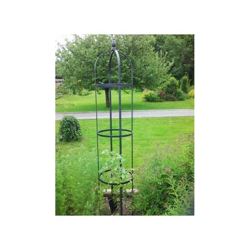 Grand ob lisque r ves de jardins jardini re porte rosier for Porte jardin fer