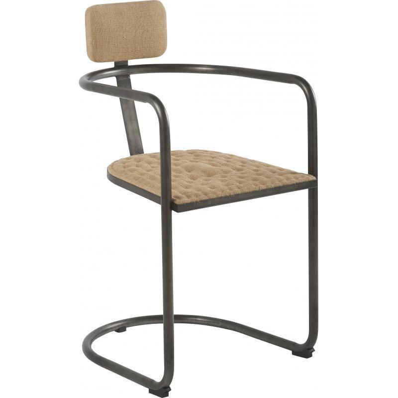 fauteuil suzon marque hanjel si ge de salon bureau 1 place look vintage r tro en acier verni et. Black Bedroom Furniture Sets. Home Design Ideas