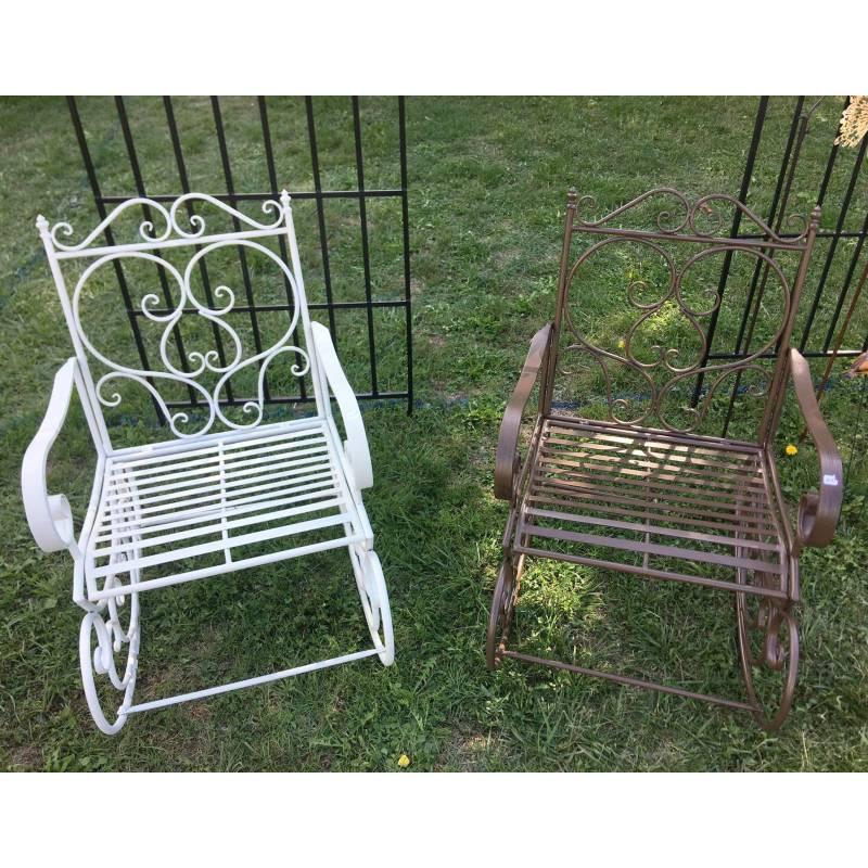 Rocking chair chaise fauteuil de jardin a bascule for Fauteuil de jardin blanc