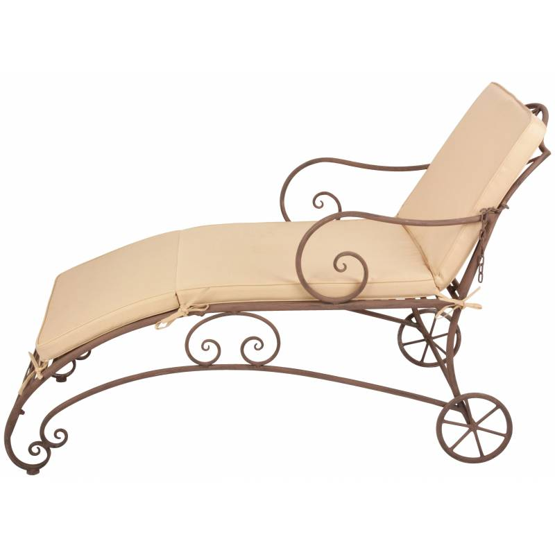 chaise longue de jardin bain de soleil transat avec. Black Bedroom Furniture Sets. Home Design Ideas