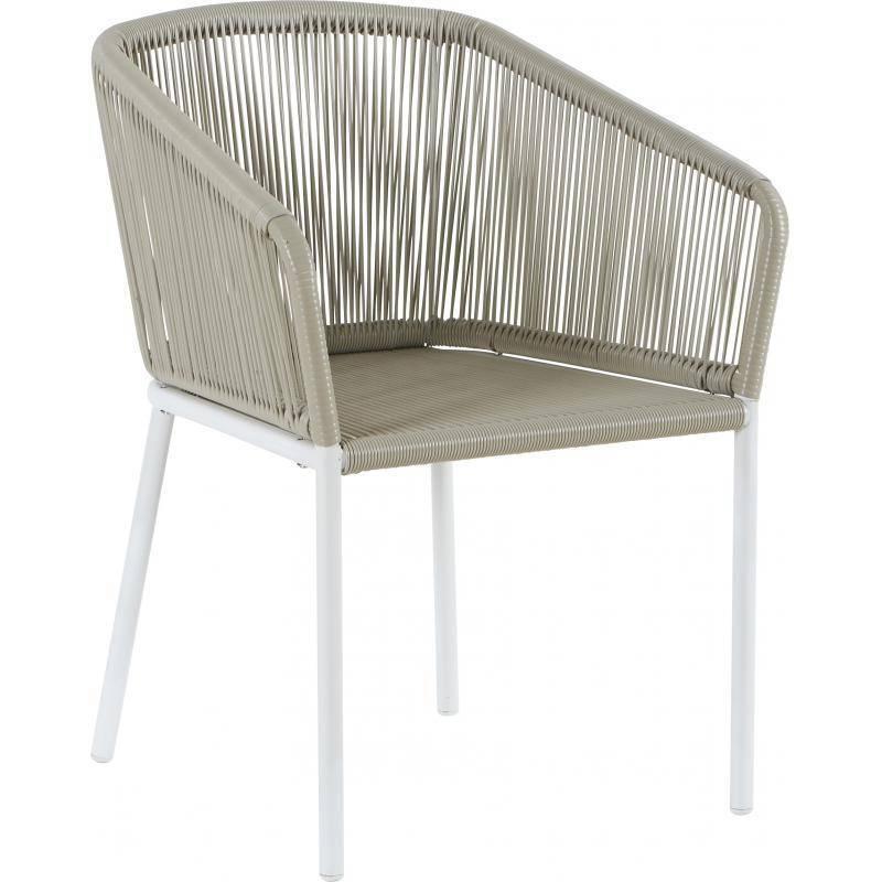 Fauteuil soma marque hanjel si ge de salon fa on chaise en for Chaise en rotin blanc