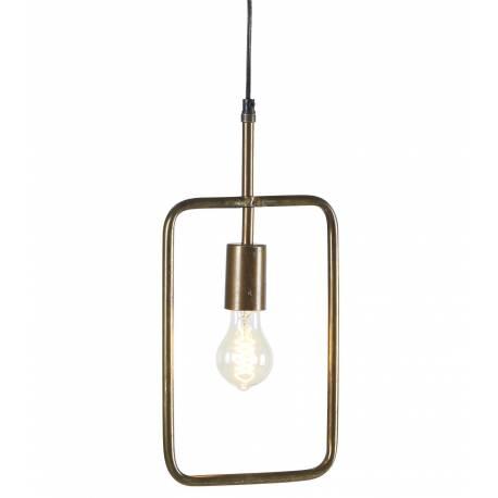 Suspension Tora Gamme Athezza Luminaire à Suspendre Plafonnier Lampe 1 Ampoule en Métal Laiton Doré 5x21x110cm