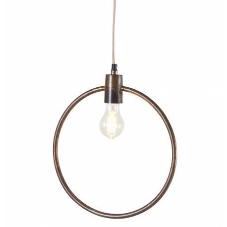 Suspension Tora Gamme Athezza Luminaire à Suspendre Plafonnier Lampe 1 Ampoule en Métal Laiton Doré 5x33x110cm