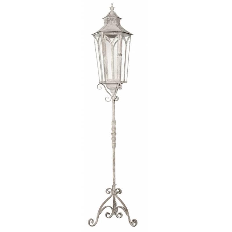 grande lanterne hexagonale sur pied lampadaire porte On lanterne exterieur sur pied