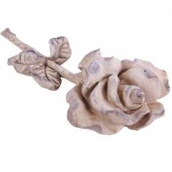 Représentation Rose à Poser Fleur Décorative Décoration Florale en Polyrésine Patinée 7,5x17,5x35,5cm