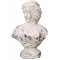 Sublime Buste Femme à Poser ou Statue Statuette Décorative Féminine en Terre Cuite Ton Pierre 16x24x36cm