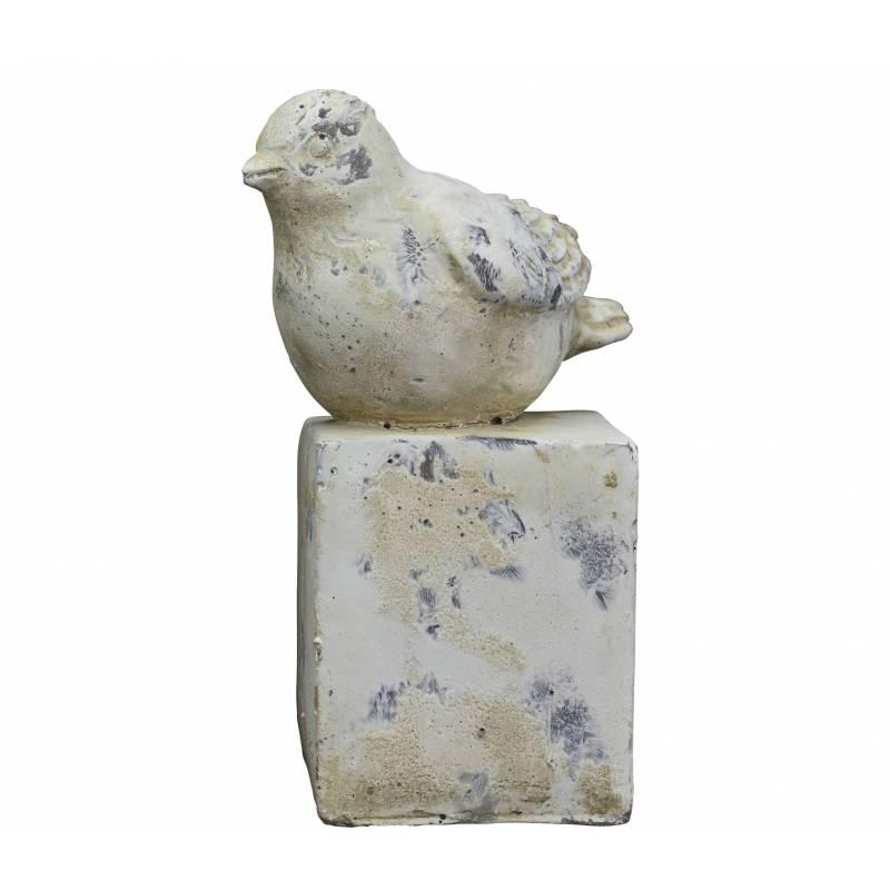 Oiseau de jardin ou statuette d corative d 39 oisillon en terre cuite patin e 11x12x22cm l - Bordure de jardin ancienne en terre cuite ...