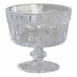Coupe à Dessert Glace Fruits Coupelle Ronde Récipient Vaisselle de Table en Verre Travaillé 9x10x10cm