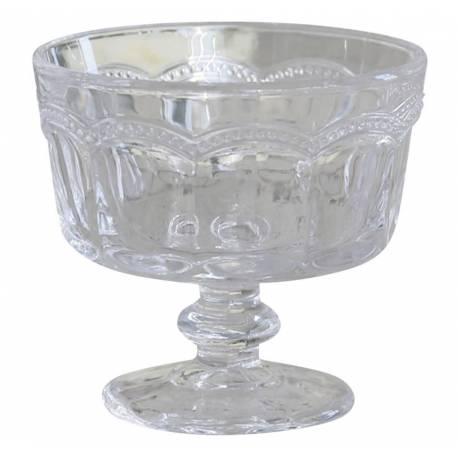 coupe dessert glace fruits coupelle ronde r cipient vaisselle de table en verre travaill. Black Bedroom Furniture Sets. Home Design Ideas