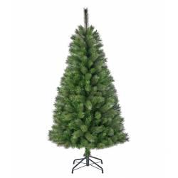 Sapin Artificiel Arbre de Noël sur Pied à Poser Joliment Fourni Branches et Epines en Synthétique et Métal 74x74x120cm
