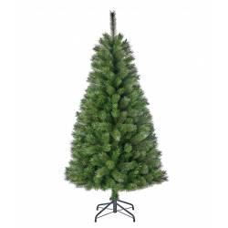 Sapin Artificiel Arbre de Noël sur Pied à Poser Joliment Fourni Branches et Epines en Synthétique et Métal 81x81x155cm