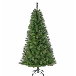 Sapin Artificiel Arbre de Noël sur Pied à Poser Joliment Fourni Branches et Epines en Synthétique et Métal 99x99x185cm