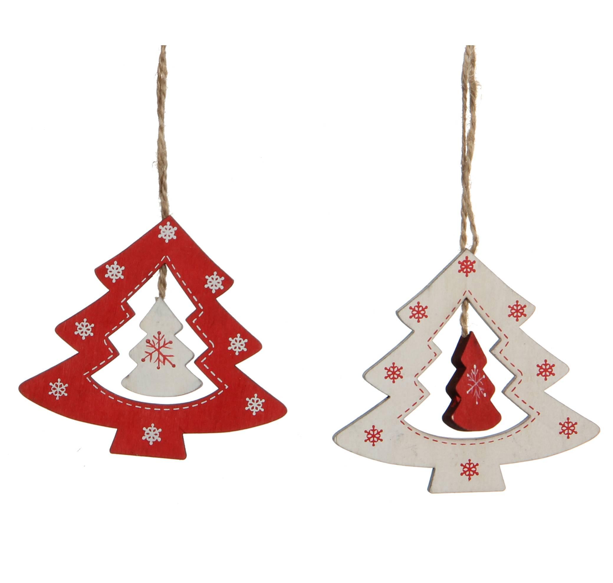 Sapin De Noel Suspendu En Bois lot 2 sapins ajourés en bois à suspendre décoration de noël suspensions  sapin arbre de noël 0,5x8x9cm