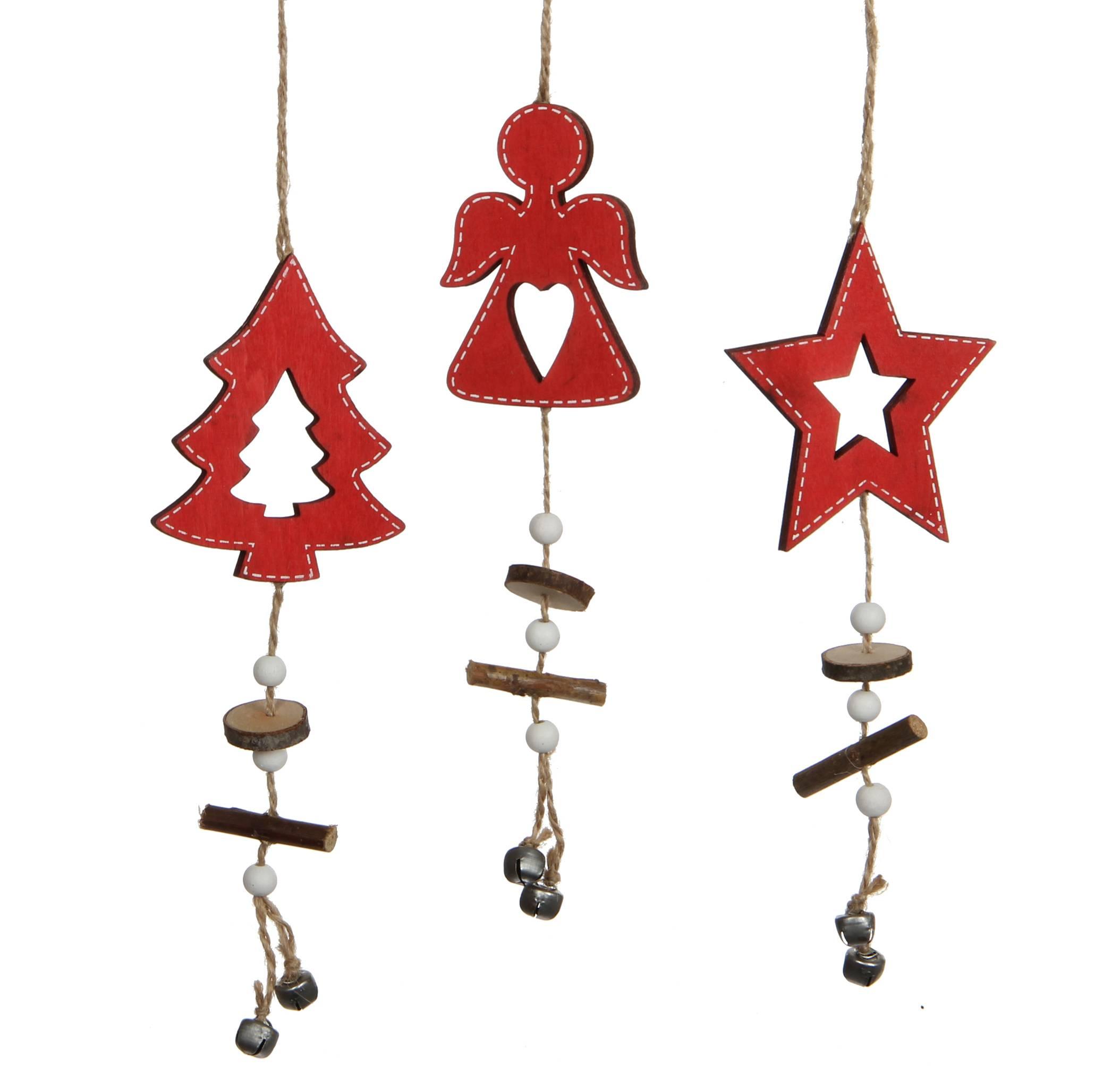 Sapin De Noel Suspendu En Bois lot 3 décorations de noël à suspendre motifs sapin angelot