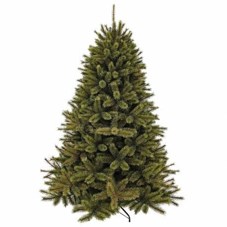 Sapin Artificiel Géant Arbre de Noël sur Pied à Poser Joliment Fourni Branches et Epines en Synthétique et Métal 208x208x365cm