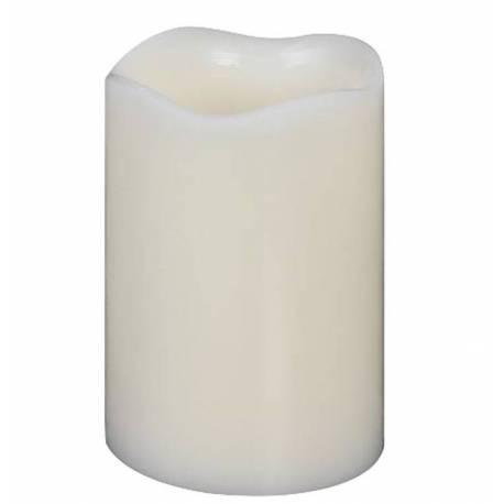 Bougie à Led Cylindrique Blanche Chandelle Cierge en Cire pour Photophores ou à Poser 7,5x7,5x10cm