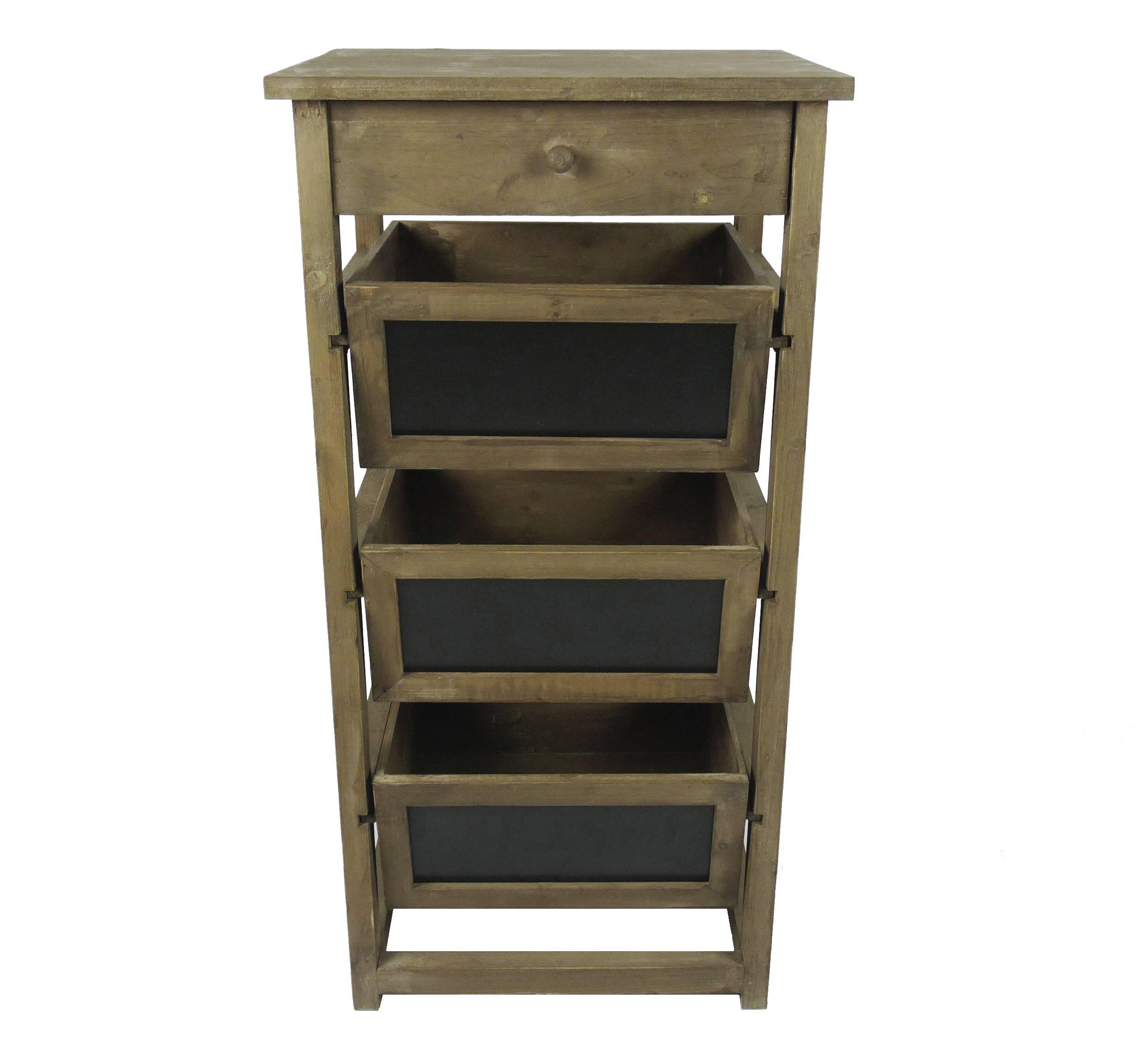 Leroy Merlin Salle De Bain Vasque A Poser ~ semainier colonne 1 tiroir 3 casier ardoise en bois console d