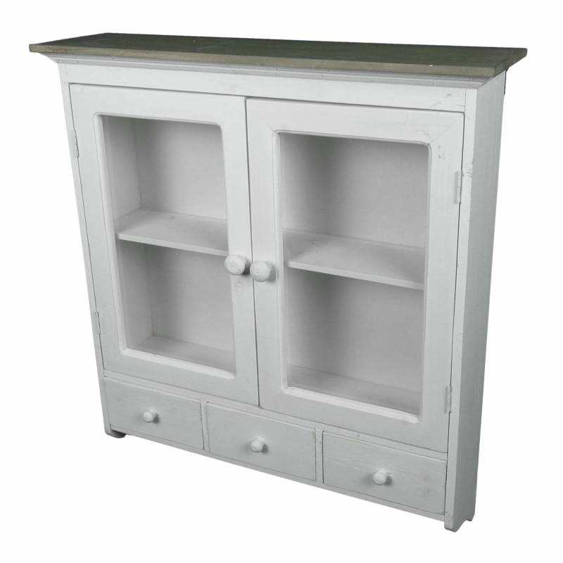 etag re de rangement ou epices murale vitr e fa on armoire pharmacie avec tiroirs bois. Black Bedroom Furniture Sets. Home Design Ideas