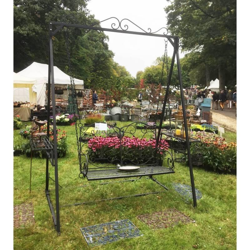 Balancelle de charme balan oire pour adultes et enfants for Mobilier de jardin en fer