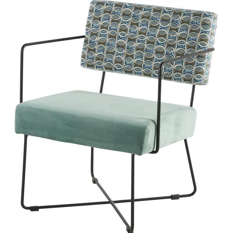 Fauteuil kaline bras africa vert de gris chaise si ge for Siege de salon