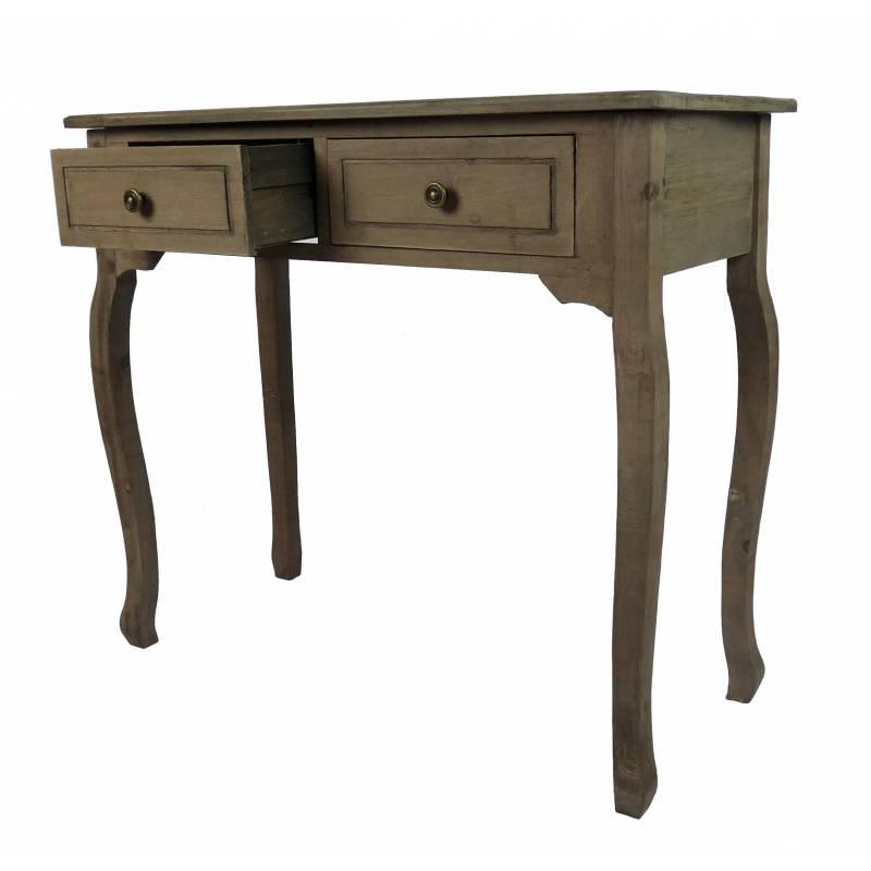 meuble dentre console de rangement mobilier dappoint avec tiroirs en bois patin