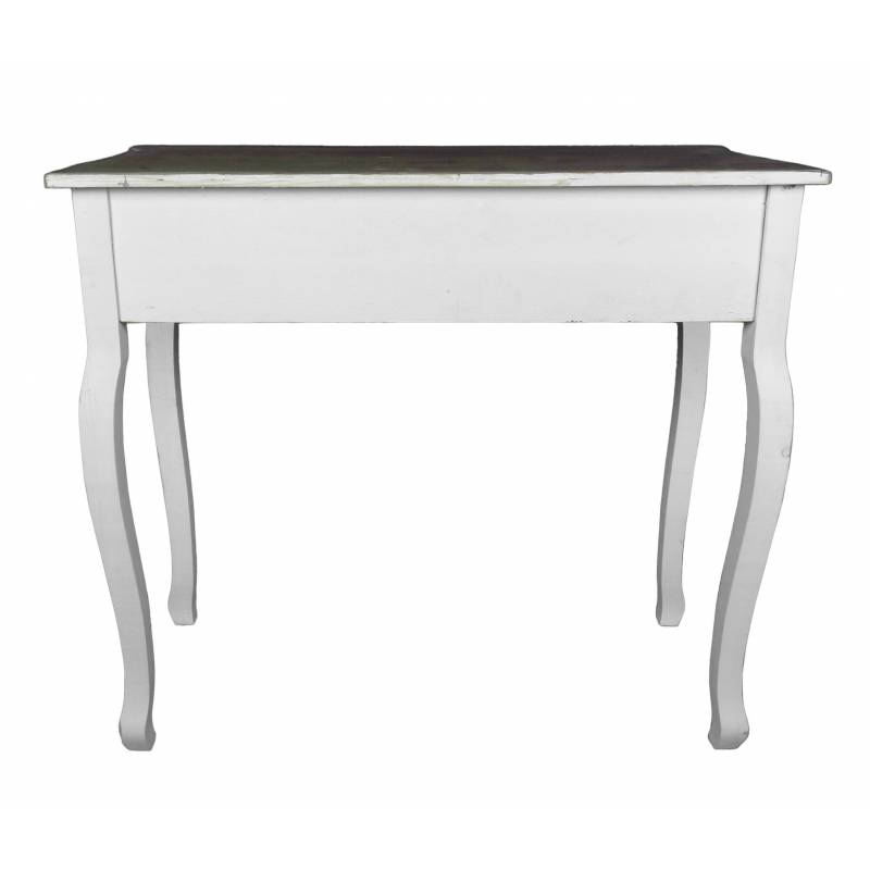 meuble d 39 entr e console de rangement mobilier d 39 appoint avec tiroirs en bois patin blanc. Black Bedroom Furniture Sets. Home Design Ideas