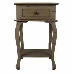 Table de Chevet Meuble d'Appoint de Chambre Console de Rangement Guéridon de Nuit à 1 Tiroir Bois Métal 35x45x70cm