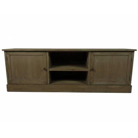 Console Table Basse Rectangulaire Meuble Télé TV à 3 Tiroirs en Bois 38x45x110cm