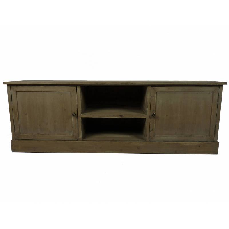 meuble tv t l console de salon grand meuble bas de rangement etag res placards en bois patin. Black Bedroom Furniture Sets. Home Design Ideas
