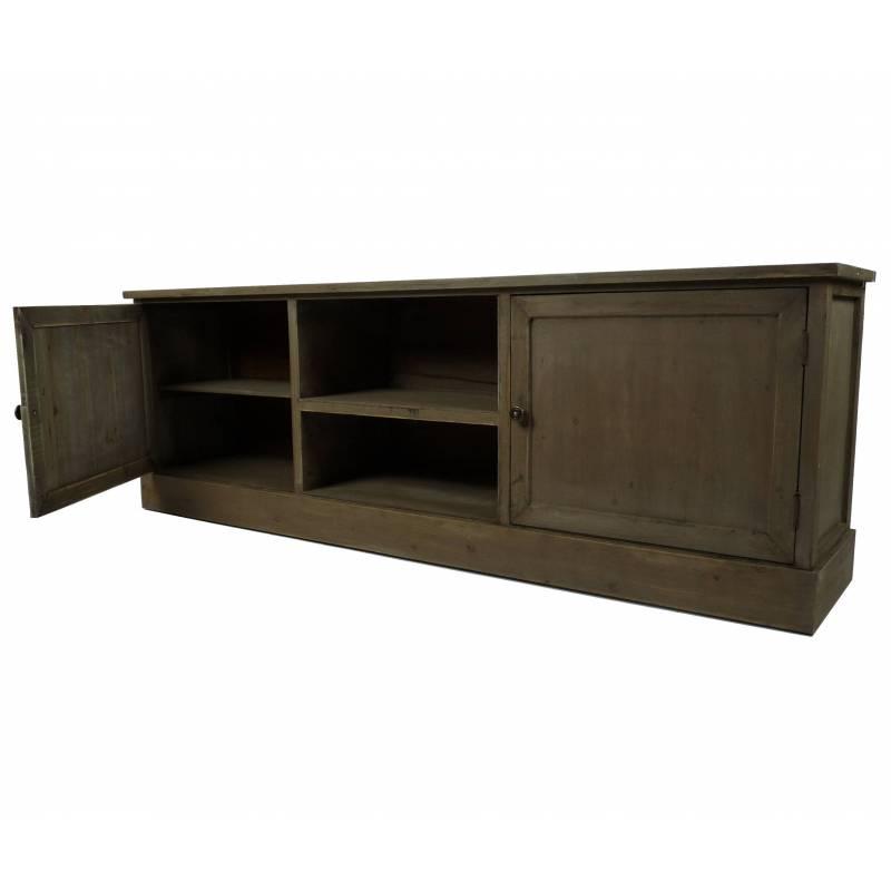 Meuble tv t l console de salon grand meuble bas de for Console de salon