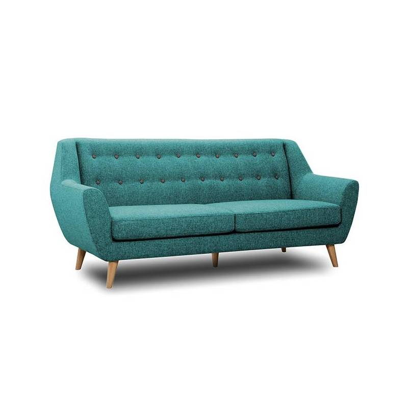 canap 3 places midelton bleu turquoise sofa banquette de. Black Bedroom Furniture Sets. Home Design Ideas