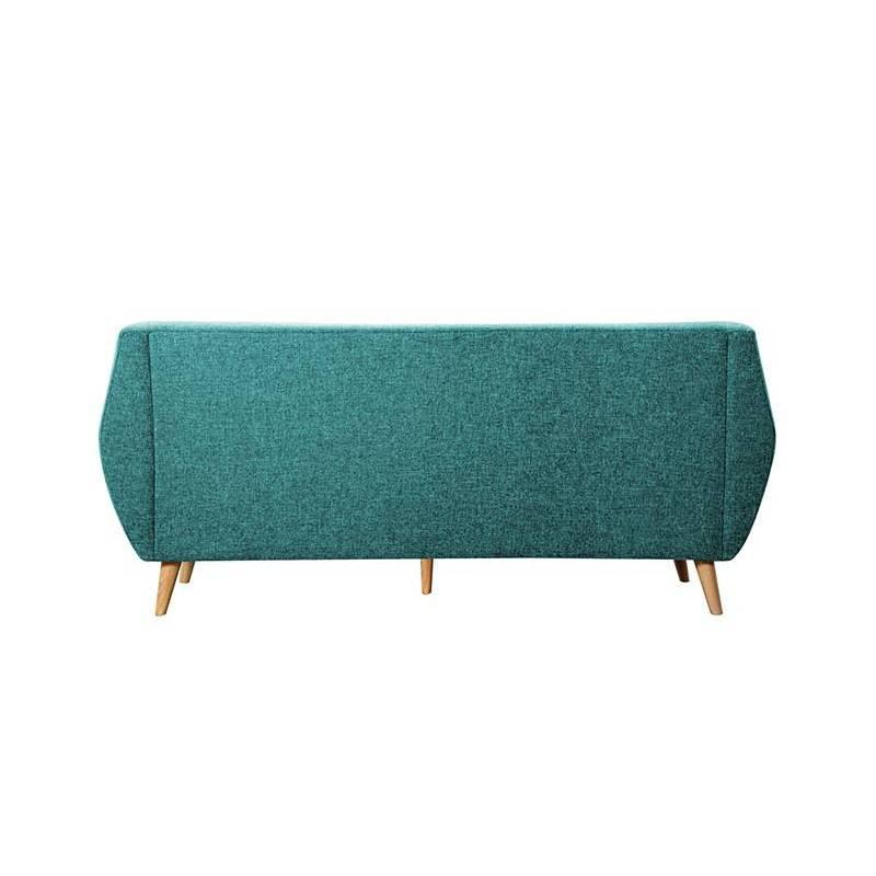 Canapé 3 Places Midelton Bleu Turquoise Sofa Banquette de