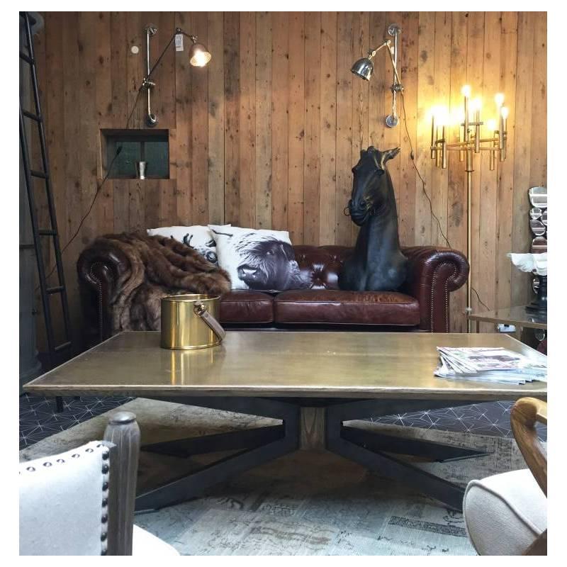 Table basse spider de signature console de salon ch ne for Console de salon
