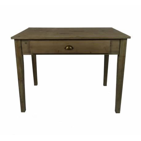 table de repas de cuisine salle manger meuble d 39 appoint avec 2 tiroirs forme rectangle en bois. Black Bedroom Furniture Sets. Home Design Ideas