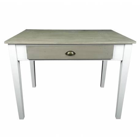 Table de repas de cuisine salle manger meuble d 39 appoint avec 2 tiroirs forme rectangle en bois - Meuble d appoint cuisine ...