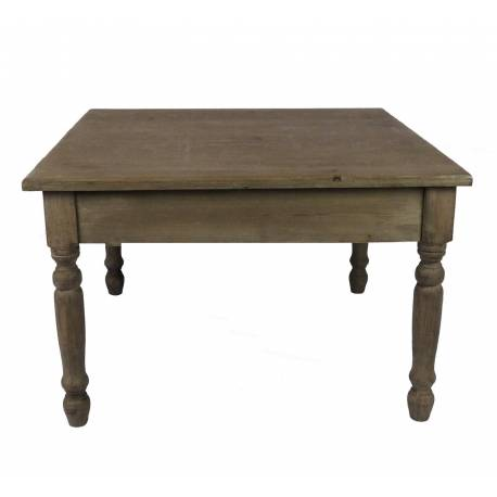 Charmante Table Basse Console De Salon Bout De Canapé Desserte D Appoint Forme Carrée En Bois Patiné Marron 45x70x70cm