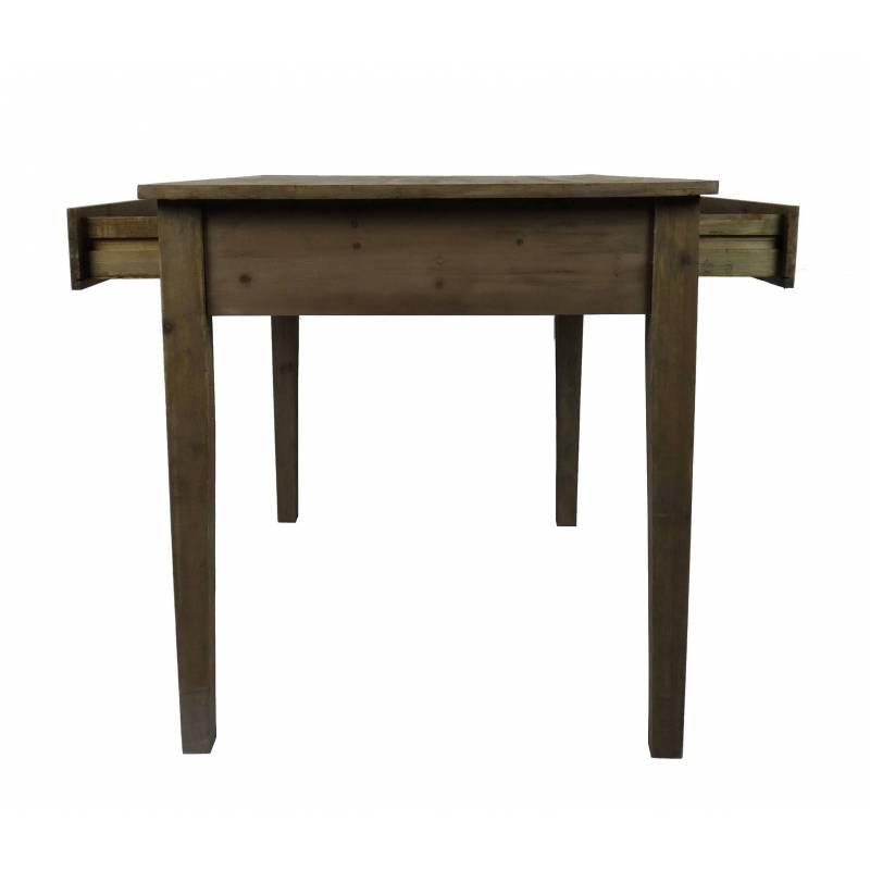 grande table de repas de salle manger ou cuisine table manger avec 4 tiroirs forme rectangle. Black Bedroom Furniture Sets. Home Design Ideas