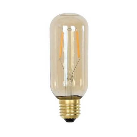 Ampoule Tube à LED E27 Puissance 2W Intensité Variable Lumière Ambrée 4,5x4,5x11cm