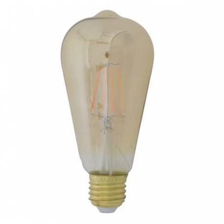 Ampoule Angulaire Evasée à LED E27 Puissance 4W Intensité Variable Lumière Ambrée 6,5x6,5x14,5cm
