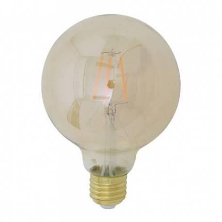 AmpouleGlobe Sphérique à LED E27 Puissance 4W Dimmable Lumière Ambrée 9,5x9,5x14cm