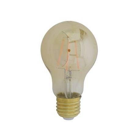 Ampoule Edison Sphérique à LED E27 Puissance 4W Dimmable Lumière Ambrée 6x6x11cm